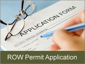 View right of way permit application