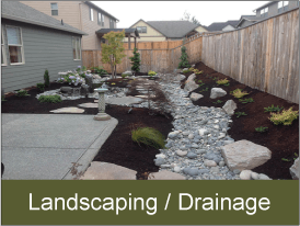 View drainage and landscaping