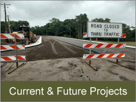 View current and future construction projects