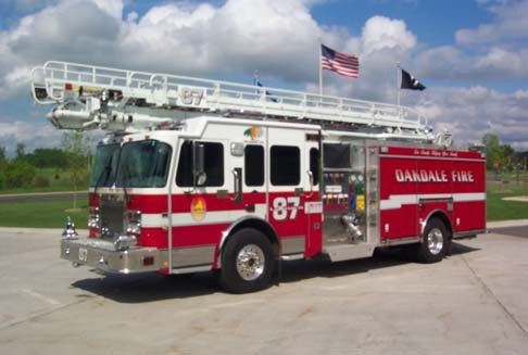 Oakdale Fire Department ladder truck