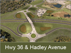 Highway 36 and Hadley Avenue Interchange information