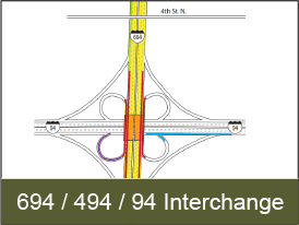 Click for Highway 694 / 494 / 94 Interchange Project