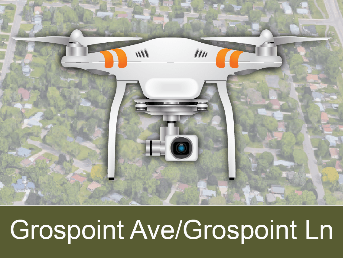 Grospoint Ave and Grospoint Ln Area Drone Videos