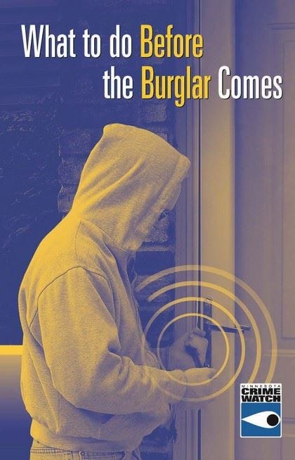 Cover of What to do Before the Burglar Comes Brochure