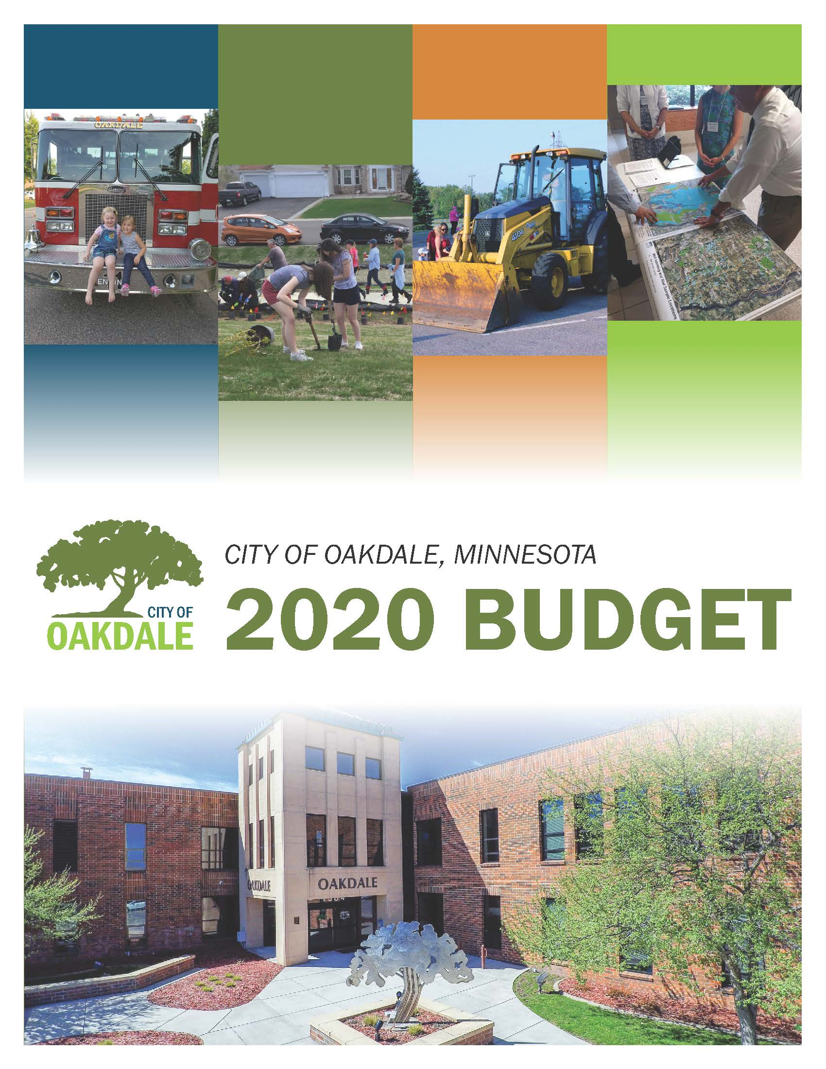 Cover of 2020 Oakdale Budget