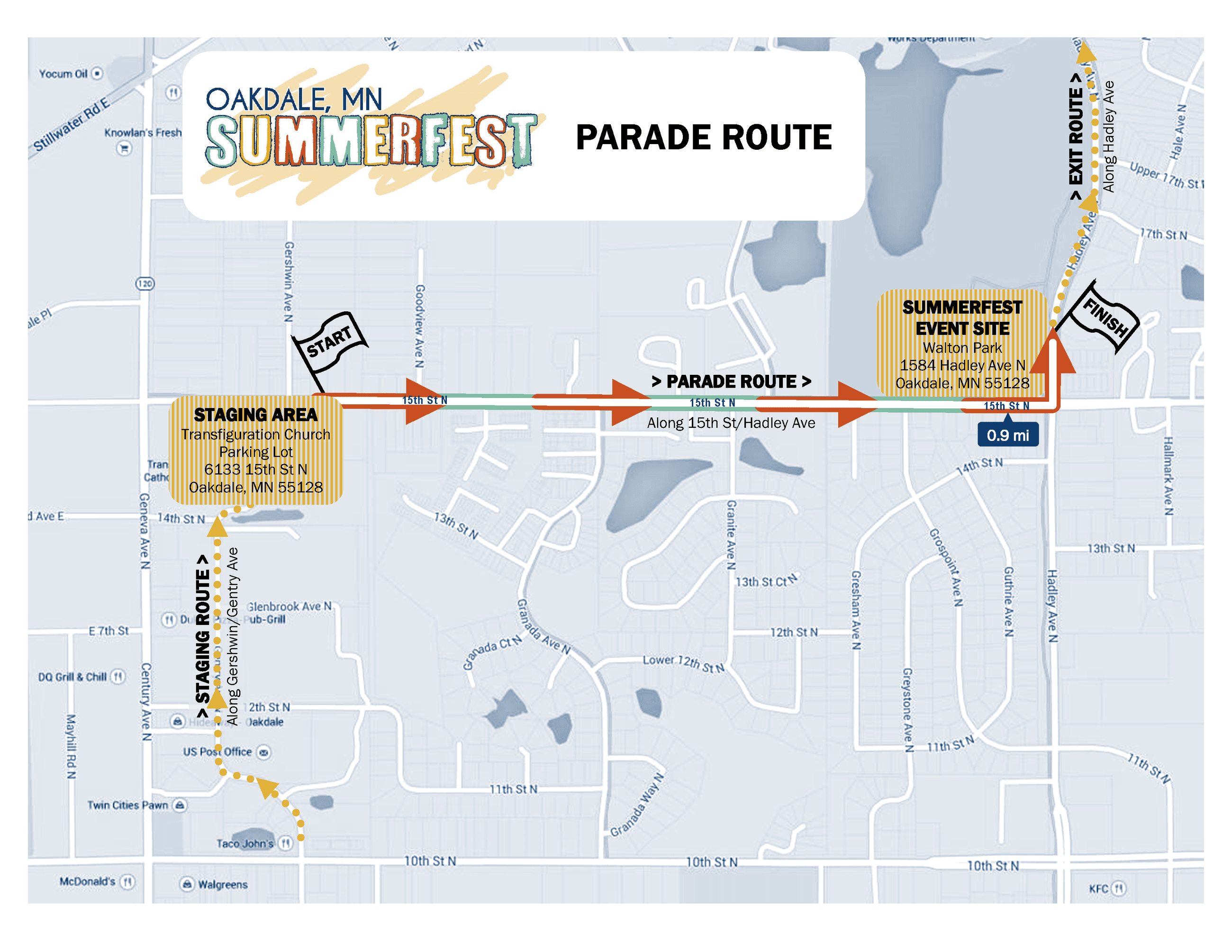 Summerfest Parade Route